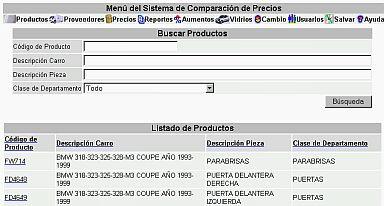Sistema Comparacion Precios Listado Productos (21K)
