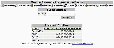 Sistema Comparacion Precios Monedas (12K)