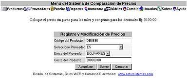 Sistema Comparacion Precios Registro (13K)